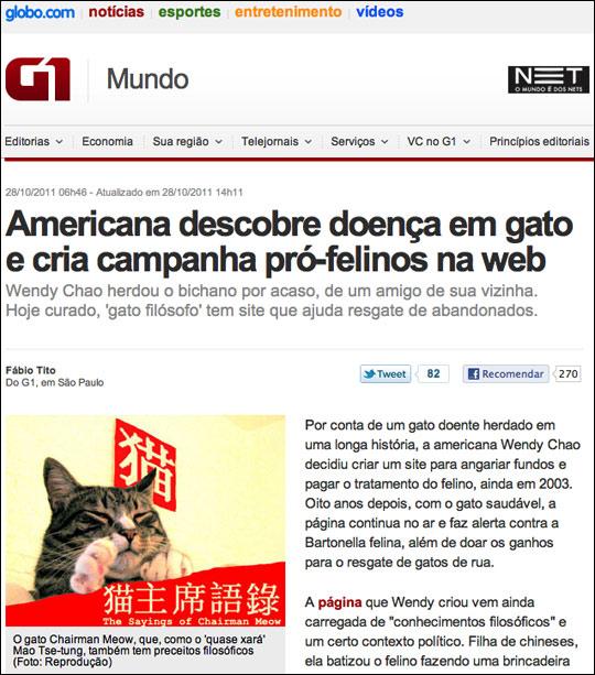 Chairman Meow in Brazil